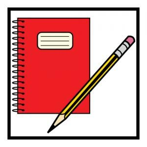 Notepad and pencil